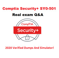 CompTIA Security SY0-501 Real Exam✔ Q&A And Simulator✔ 20 Sec Delivery! 2020