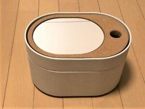 "Ikea SAXBORGA Storage box with mirrored lid, plastic cork 9 1/2x6 3/4 "" - NEW"