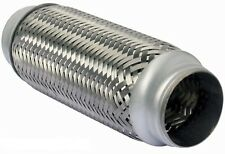 "57 x 150mm Braided 2.25 x 6"" Inch Exhaust Flexible Flexi Flex Joint Pipe Repair"