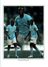 Yaya TOURE firmato Autograph 16x12 Manchester City MONTAGE PHOTO AFTAL COA