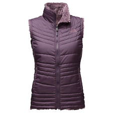 NEW Womens THE NORTH FACE MOSSBUD SWIRL VEST EGGPLANT REVERSIBLE JACKET COAT XL