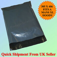 """100 Strong Grey Mailing Plastic Postage bags 12""""x16"""" 305x406mm Cheapest on Ebay"""