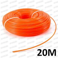 20M, 2.4MM PETROL STRIMMER TRIMMER TRIM NYLON SPOOL LINE GRASS WIRE ROPE CORD