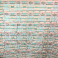 "Vintage Pastel Southwestern Coverlet Bedspread Full Queen 92"" x 108"""