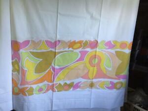 NOS Vintage Wondercale Springmaid King Bed Sheet EMILIO PUCCI Modernist