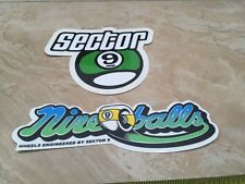 Nos Sector 9 Longboards Stickers U Get Two