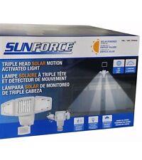 Sunforce Triple Head Solar Motion Activated Light 180LED 1200 Lumens NOSALESTAX