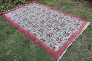 """Vintage Handmade Turkish Oushak Area Rug 104""""x67"""""""