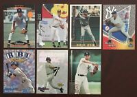 Derek Jeter Lot Of 7 Baseball Cards Includes 3 Rookie Cards