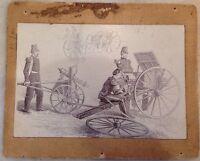 VERY RARE 1860's Gatling Gun ALBUMEN PHOTOGRAPH Military Army Civil War Picture