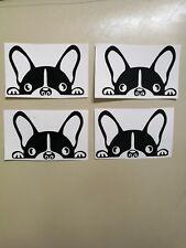 Bulldog Francese Adesivi in Vinile x 4 o di vetro, tazza, Muro, Finestra, LAPTOP, iPad