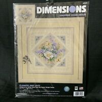 Rare Dimensions Flowers and Lace Counted Cross Stitch Kit Sandy Orton 35101