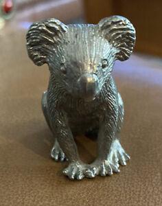 Pewter Koala Bear Vintage Miniature Figurine
