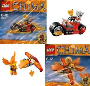 Lego Legends Of Chima Frax Flyer 30264 Worriz' fire bike 30265 WITH MINIFIGURES