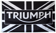 Triumph Flag 3x5 ft Motorcycle Black Banner