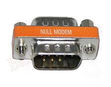 High Quality Mini Null Modem DB9 Male / DB9 Male Adapter (AD911NU)