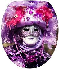 Aufkleber -deckel WC deko Maske Venedig 35x42cm Ref 2167