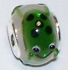 925 silver Story Bead green frog pink glass 3.1 gr