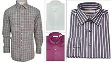 Mens Designer Shirt Michael Kors Regular Fit Luxury Cotton Long Sleeve