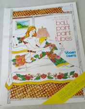 Decorate & Embroider With Ball Point Paint Tubes transfer pattern and book 1976