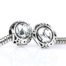 2pc Retro Silver Constellation virgo Spacer Charm Bead suit European Bracelet