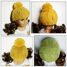 Knitting Pattern - Goldie Leaf Hat For American Girl Doll 18 Inch Doll Clothes