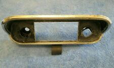 1967 1968 Ford Mustang Original OEM Radio Bezel Trim Solid but Pitted GT GTA