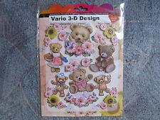 STICKER+++VARIO 3-D DESIGN+++TEDDYBÄREN+++NEU+++OVP