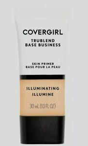 Covergirl TruBlend Base Business Skin Primer ILLUMINATING New Sealed 1.0 FL Oz