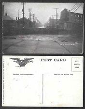 1913 Postcard - Columbus, Ohio Flood - Site of Broad Street Bridge, Disaster