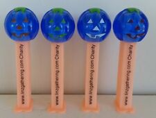 PEZ VERY RARE Linz Gathering Blue Crystal Pumpkins (4-Set)