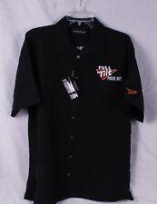 Full Tilt Poker Men's Black Button Down Shirt – Size Medium