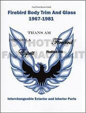Trans Am and Firebird Body Parts Interchange Book 1973 1974 1975 1976 1977 Trim