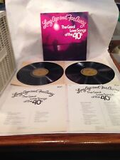 LONG AGO AND FAR AWAY THE GREAT LOVE SONGS OF THE 40'S ~ 2 LP SET ~ COLUMBIA REC