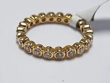 F/VS 1.00 Carat Bezel Set Full Eternity Ring Wedding Ring, 18K Yellow Gold