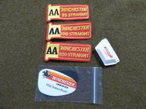 Winchester AA Patch's 25-100 & 200 Straight And Eye Glass Blinder & Ear Plugs
