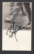Bob Lanier Autographed 3x5 index card with image of shoes SGC Authentic COA