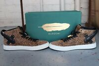 BUSCEMI Men's 100mm Leopard Calf Hair High-Top Sneakers SIze 42