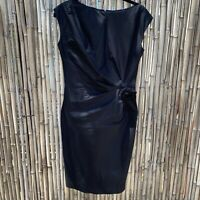 Suzi Chin for Maggy Boutique Side Ruched Dress sz 4