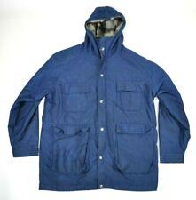 Vintage Woolrich Wool Lined Hooded Nylon Field Trapper Jacket Men's Large USA