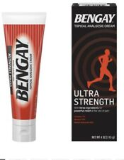 Ultra Strength Bengay Pain Relief Cream - 4 OZ  113g - UK Seller - 04/2021