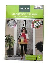 "(Qty. 1 ) Magnetic Fly Screen, 83 "" x 39 "" New Floral Decor"