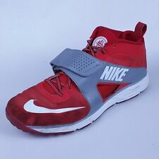 Nike Huarache 554869-600 Mens Black High Top Sneakers Basketball Red White sz 15