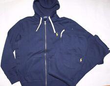 NWT Polo RALPH LAUREN Men's Classic Fleece 2PC Track & Sweat Suits Navy Blue S