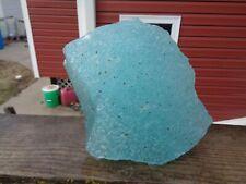 New listing Glass Rock Slag Clear Aqua/Ice Blue Bubbles 8.6 lb Rocks Ee58 Landscaping Aquar