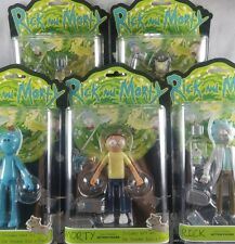 Rick and Morty 5in Posable Action Figure Complete Set of 5 ~ Build Snowball