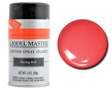 Testors Model Master Automotive Racing Red Enamel Spray Paint Can  3 oz. 2939