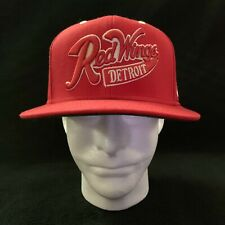 NHL Detroit Red Wings Hat Reebok Snapback Face Off Headwear Wool Embroidered Red