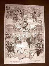 Milano nel 1883 Teatro Manzoni Donna Lavinia Dramma di Enrico Montecorboli