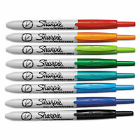 Sharpie Retractable Permanent Marker Ultra Fine Tip Assorted Colors 8/Set